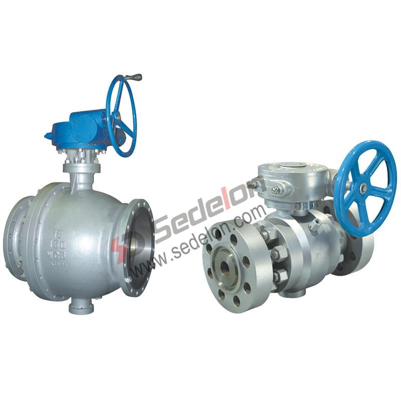 gear operated ball valves
