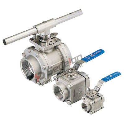 Screwed ball valves